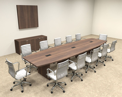 Modern Boat Shapedd 14' Feet Conference Table, #OF-CON-C69