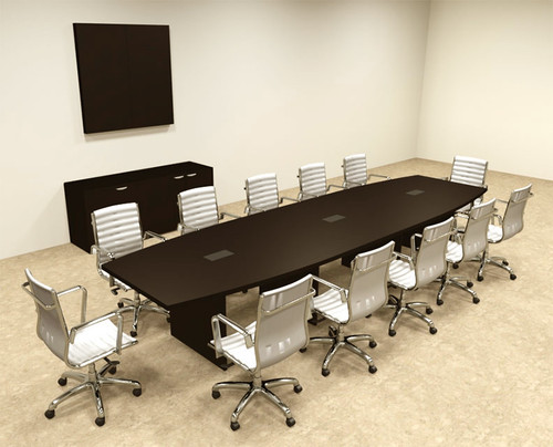 Modern Boat Shapedd 14' Feet Conference Table, #OF-CON-C70