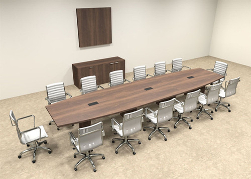 Modern Boat Shapedd 16' Feet Conference Table, #OF-CON-C74