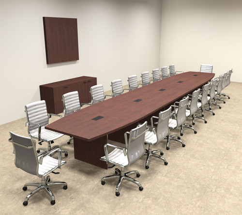 Modern Boat Shapedd 22' Feet Conference Table, #OF-CON-C87