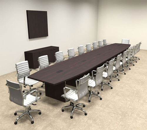 Modern Boat Shapedd 22' Feet Conference Table, #OF-CON-C88