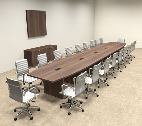 Modern Boat Shapedd 22' Feet Conference Table, #OF-CON-C89