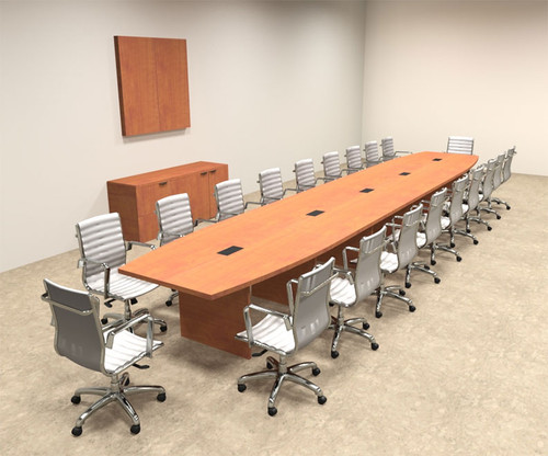 Modern Boat Shapedd 24' Feet Conference Table, #OF-CON-C91