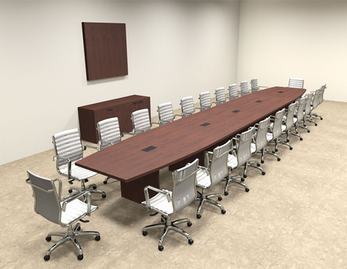 Modern Boat Shapedd 24' Feet Conference Table, #OF-CON-C92