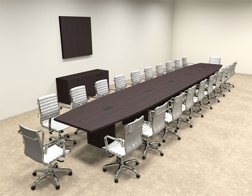 Modern Boat Shapedd 24' Feet Conference Table, #OF-CON-C93