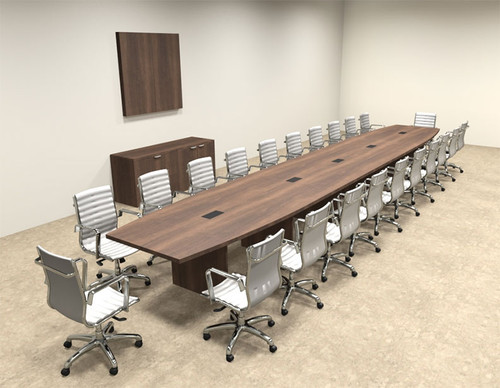Modern Boat Shapedd 24' Feet Conference Table, #OF-CON-C94