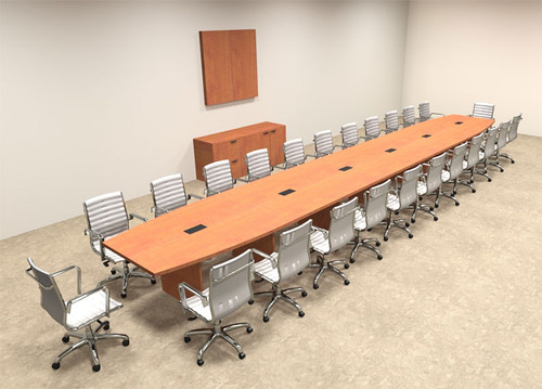 Modern Boat Shapedd 26' Feet Conference Table, #OF-CON-C96