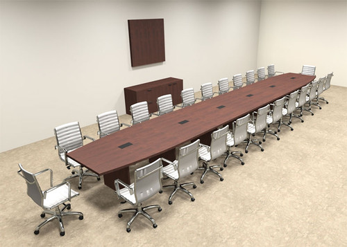 Modern Boat Shapedd 26' Feet Conference Table, #OF-CON-C97