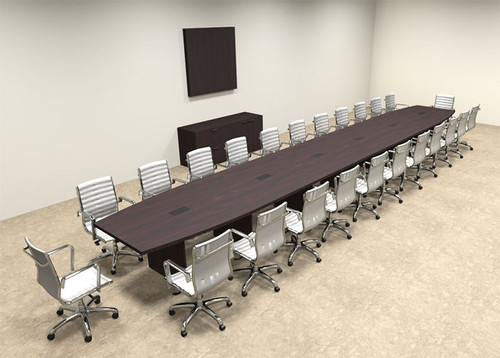 Modern Boat Shapedd 26' Feet Conference Table, #OF-CON-C98