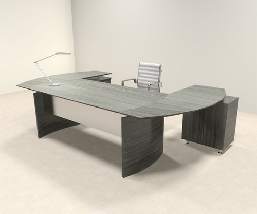 3pc Modern Contemporary U Shaped Executive Office Desk Set, #MT-MED-O7
