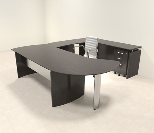 5pc Modern Contemporary U Shaped Executive Office Desk Set, #MT-MED-U12