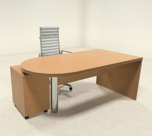 2pc Modern Contemporary Executive Office Desk Set, #RO-ABD-D1