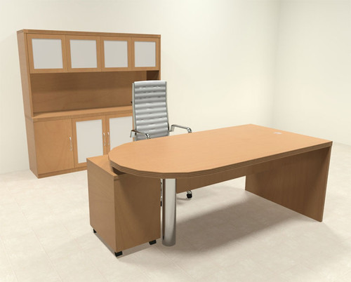 4pc Modern Contemporary Executive Office Desk Set, #RO-ABD-D25