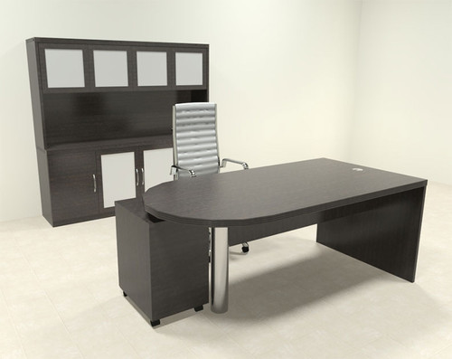 4pc Modern Contemporary Executive Office Desk Set, #RO-ABD-D27