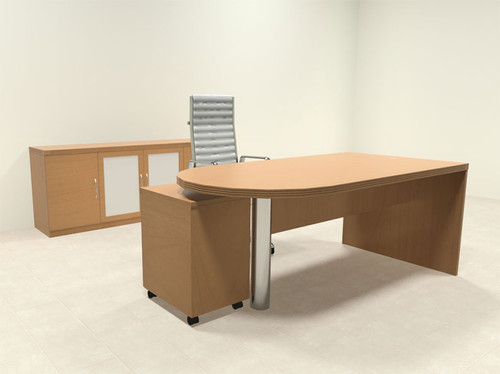 3pc Modern Contemporary Executive Office Desk Set, #RO-ABD-D28