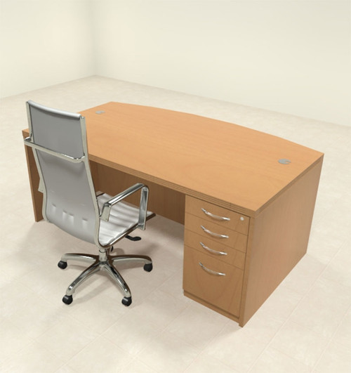 2pc Modern Contemporary Executive Office Desk Set, #RO-ABD-D4
