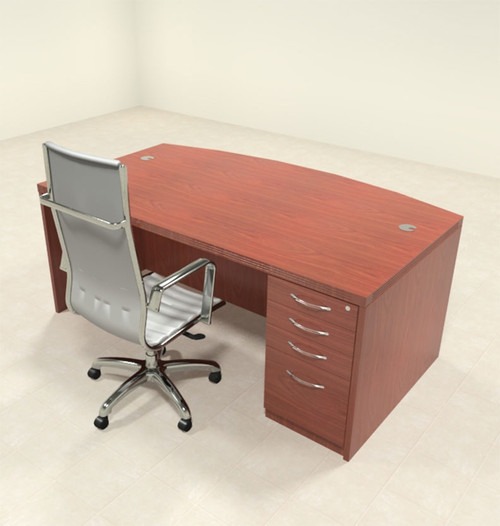 2pc Modern Contemporary Executive Office Desk Set, #RO-ABD-D5