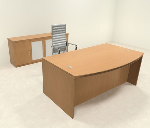 3pc Modern Contemporary Executive Office Desk Set, #RO-ABD-D7