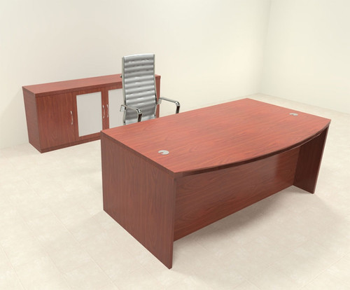 3pc Modern Contemporary Executive Office Desk Set, #RO-ABD-D8