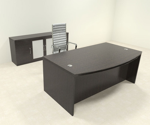 3pc Modern Contemporary Executive Office Desk Set, #RO-ABD-D9