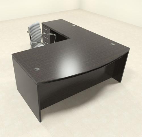 3pc Modern Contemporary L Shaped Executive Office Desk Set, #RO-ABD-L3