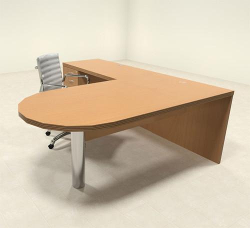 3pc Modern Contemporary L Shaped Executive Office Desk Set, #RO-ABD-L7