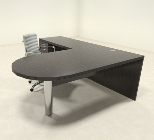 3pc Modern Contemporary L Shaped Executive Office Desk Set, #RO-ABD-L9