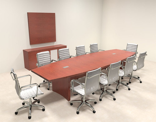 Modern Contemporary Boat Shaped 12' Feet Conference Table, #RO-ABD-C11