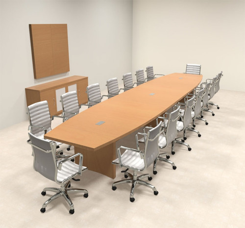 Modern Contemporary Boat Shaped Feet Conference Table ROABD - 18 foot conference table