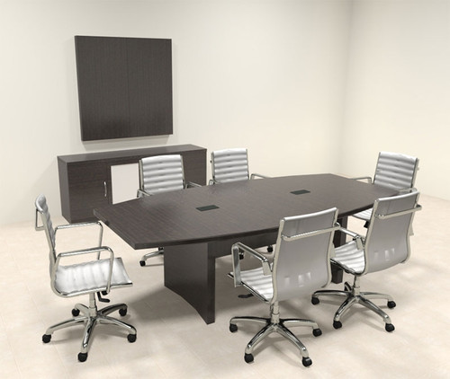 Modern Contemporary Boat Shaped 8' Feet Conference Table, #RO-ABD-C6
