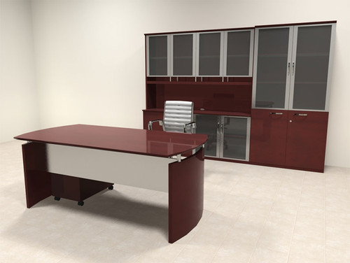5pc Modern Contemporary Executive Office Desk Set, #RO-NAP-D11