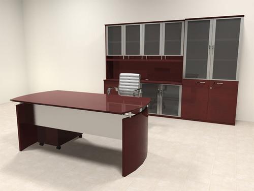 5pc Modern Contemporary Executive Office Desk Set, #RO-NAP-D11