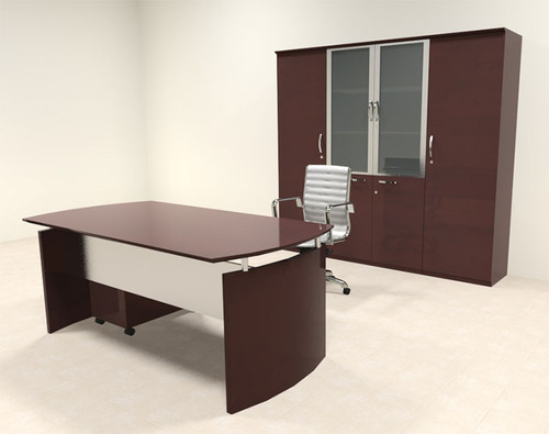 5pc Modern Contemporary Executive Office Desk Set, #RO-NAP-D15