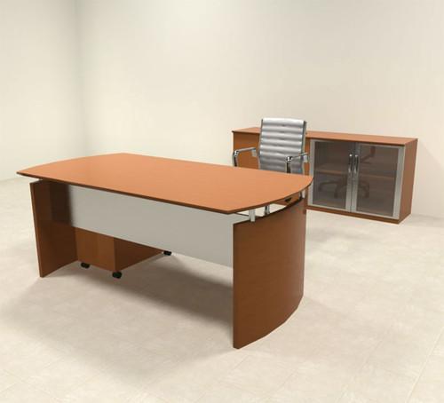 3pc Modern Contemporary Executive Office Desk Set, #RO-NAP-D4