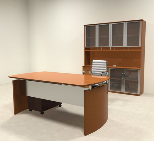 4pc Modern Contemporary Executive Office Desk Set, #RO-NAP-D7