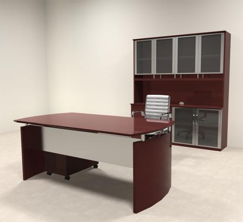 4pc Modern Contemporary Executive Office Desk Set, #RO-NAP-D8