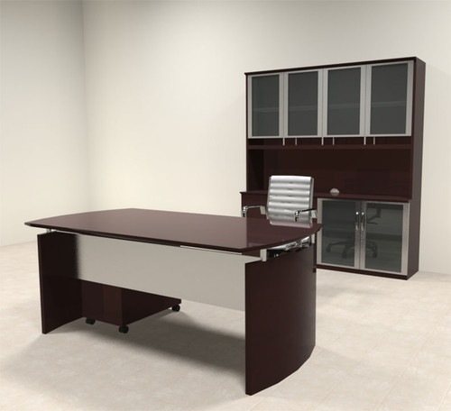 4pc Modern Contemporary Executive Office Desk Set, #RO-NAP-D9