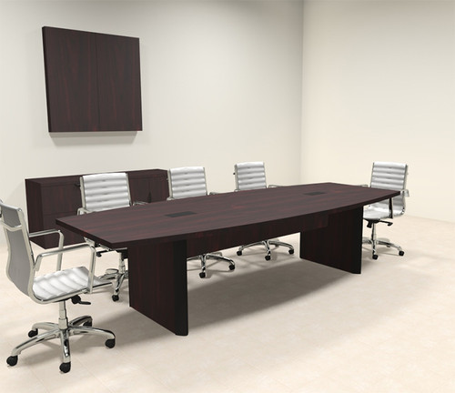 Modern Boat Shaped 10' Feet Conference Table, #OF-CON-CP3
