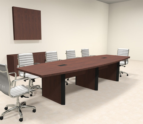 Modern Boat Shaped 12' Feet Conference Table, #OF-CON-CP7