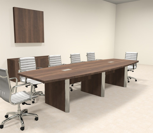 Modern Boat Shaped 12' Feet Conference Table, #OF-CON-CP9