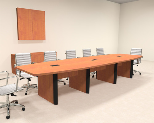 Modern Boat Shaped 14' Feet Conference Table, #OF-CON-CP11