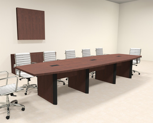 Modern Boat Shaped 14' Feet Conference Table, #OF-CON-CP12