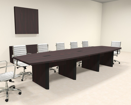 Modern Boat Shaped 14' Feet Conference Table, #OF-CON-CP13