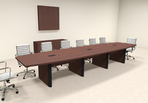 Modern Boat Shaped 16' Feet Conference Table, #OF-CON-CP17