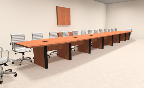 Modern Boat Shaped 30' Feet Conference Table, #OF-CON-CP51