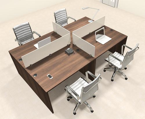Four Persons Modern Office Divider Workstation Desk Set, #CH-AMB-FP19