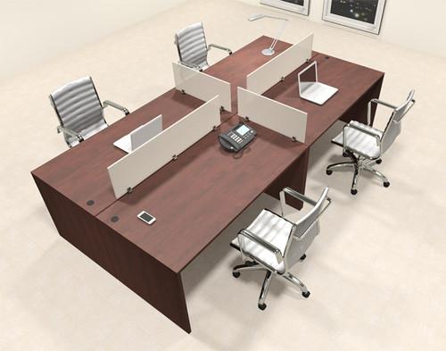Four Persons Modern Office Divider Workstation Desk Set, #CH-AMB-FP31