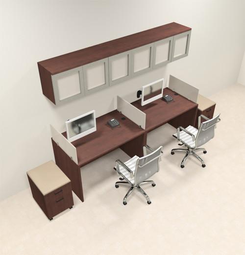 Two Person Modern Divider Office Workstation Desk Set, #CH-AMB-SP101