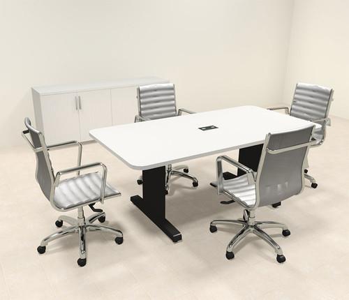 Modern Rectangular 6' Feet Conference Table, #MT-CSD-C1