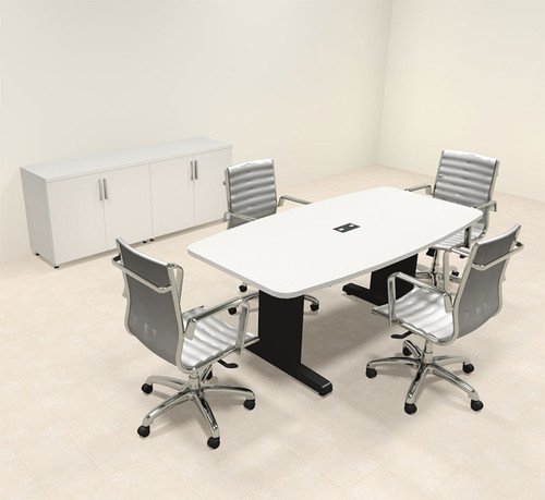 Modern Boat Shaped 6' Feet Conference Table, #MT-CSD-C7
